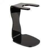 Beauty7 Universal Size Blck Acrylic shaving brush stand/Holder for Razor & brush 9.5cm