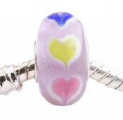 Murano Glass Beads to Fit Pandora Chamilia and Biagi Bracelets When Love Comes Around the Heart