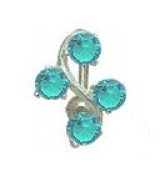 Blingbling GlitZ Stainless Steel with Silver-Coloured Zirconium Crystals Belly Navel Ring