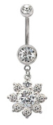 Blingbling GlitZ Belly Bar with crystals