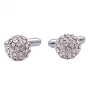 Banithani Silver Tone Cufflinks Men Shirt Accessories Wedding Groom Party Gift Jewellery