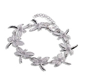 Silver Plated Dragonfly Bracelet Bangle Women Fashion Jewellery