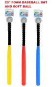 Baseball Foam Bat & Soft Ball Safe Rounders Set Blue,Red,Yellow Kids Outdoor Play Toy Birthday Gift Present
