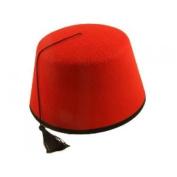 Unisex Red Fez Hat Tarboosh Tommy Cooper Moroccan Turkish Fancy Dress Accessory