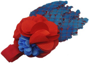 Lovely Girls Baby Headbands,Feather,Blue and Red