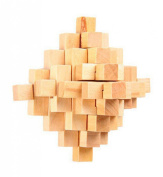 Challenging Wood Brain Teaser Puzzle Disentanglement Puzzles, Style 2