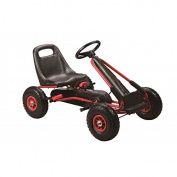 Oypla Red Kids Childrens Pedal Racing Go-Kart Ride-On Rubber Wheels