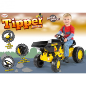 Toyrific Ride-on Dumper Tipper Truck with Working Dumper, Pedals and Horn