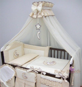 Baby Cot Bed Crown Canopy / Mosquito Net 480 cm + Floor Free Stand Holder - MOON CREAM