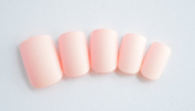 J and J Beauty 24 Full Cover False Nails with Glue and Adhesive Tabs - Matte Pink