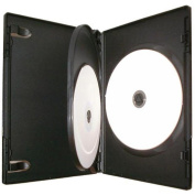 Four Square Media 10 X CD DVD / BLU RAY 14mm Black DVD 3 Way Case for 3 Disc - Pack of 10