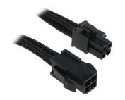 BitFenix 45cm 4-Pin ATX12V Extension Cable - Sleeved Black/Black