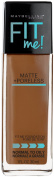 Maybelline Makeup Fit Me Matte + Poreless Liquid Foundation Makeup, Cappuccino Shade, 30ml
