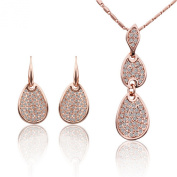 DUMAN 18K Rose Gold Plated. Crystal Jewellery Sets Necklace Earrings Fashion Jewellery
