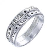 Sterling Silver TRUE LOVE Ring Set