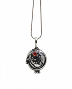 Vampire Diaries Inspired Elena Gilbert Vervain Pendant Crystal Gem Antique Necklace Locket Silver
