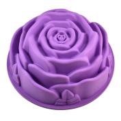23cm Rose Flower Birthday Cake Bread Tart Flan Silicone Baking Mould Tin Bakeware