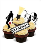 NOVELTY BROADWAY MUSICAL MIX - Standups 12 Edible Standup Premium Wafer Cake Toppers