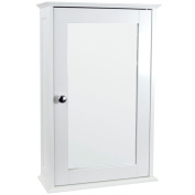 Home Discount® Bathroom Cabinet Single Mirrored Door Wall Mounted, White