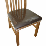 6 x Clear Plastic Dining Chair Seat Cushion Covers / Protectors
