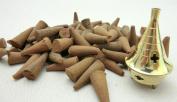 100 FRANKINCENSE U.K MADE INCENSE CONES+ FREE BRASS BURNERS GREAT BRITISH VALUE