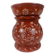 Burnt Umber Eternity Soapstone Essential Oil Burner / Aromatherapy Oil Burner - Large