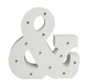 Light Up Letter - Wooden LED Alphabet Letter - Ampersand