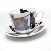 Roy Kirkham - Cats Galore - Breakfast Cup and Saucer