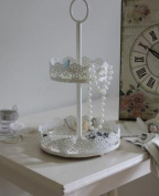 Two Tier Cake Stand Jewellery Display