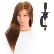 Beautystar 50cm 30% Real Hair Hairdressing Cosmetology Mannequin Manikin Training Head Model with Clamp