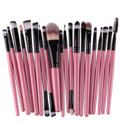 Kingfansion 20pcs/set Makeup Brush Set Tools Make-up Toiletry Kit Wool Make up Brush Set