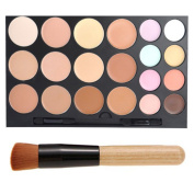 FiveBull 20 Colour Face Cream Concealer Camouflage Foundation Palette Professional Makeup Kit Set with Make up Brushes