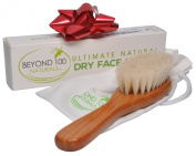 Best Dry Skin Face Brush with Natural Bristles to Exfoliate and Detox for Healthy & Beautiful Skin - FREE Bag - Improve Circulation - Perfect Gift - Buy Now