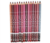 Datework Women's Professional Lipliner Waterproof Lip Liner Pencil 15CM 12 Colours Per Set Hot 2016