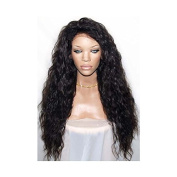 """PlatinumHair 180%heavy density synthetic lace front wig heat resistant black body wave wig26"""""""