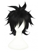 LOUISE MAELYS Short 32cm Anime Cosplay Full Wigs Short Black Wig Men Wig Party