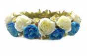 Rose Flower Tiara Wreath Crown Headband (A3)