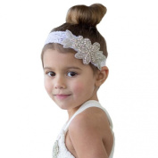 Kingfansion Headbands Rhinestone Flower Hair Accessories for Girls Infant Hair Band