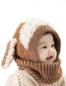 Datework Winter Baby Kids Girls Boys Warm Woollen Coif Hood Scarf Caps Hats