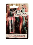 Red Hair Chalk Dye Temporariliy Colour Washes Out Great for Parties, Girls Night Out or