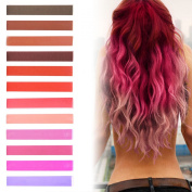 Best DIY Kendall Hot Pink Ombre Hair Dye Set of 12 | Strawberry Blonde Ombre Hair | ROSE TINT Vibrant Hair Dye | with Shades of Rose Tint | Brown, Brick, Red, Raspberry, Pink and Lilac Set of 12 Vibrant Hair Chalk | Colour your Hair Red Pink Ombre in s ..
