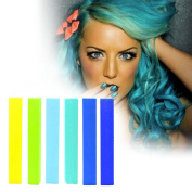 Blue Turquoise Ombre hair Dye Set | Cyan, Mint, Turquoise and Blue Ombre Hair Dye | MERMAID OMBRE Hair Colour | With Shades of Yellow, Green Apple, Blue, Turquoise, Minty & Navy A Pack of 6 Hair Chalk | Colour your Hair Sapphire Ombre in seconds with t ..