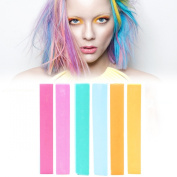 Best UNICORN Hair Dye Set | Pastel Rainbow Hair Dye | PRINCESS Vibrant Hair Colour | With Shades of Turquoise, Yellow, Light Green, Red, Orange & Pink A Pack of 6 Temporary Vibrant Hair Colour | Colour your Hair Rainbow Ombre in seconds with temporary  ..