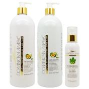 "Dominican Magic Nourishing Shampoo & Conditioner 950ml & Silk Shine Serum 180ml ""Set"""