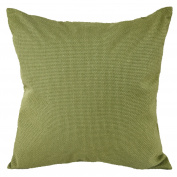 Deconovo Faux Linen Look Throw Cushion Case Pillow Cover With Invisible Zipper For Decoration, 46cm x 46cm , Lawgreen