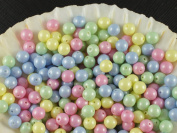 30pcs Czech Beads with a Pearl Coating Estrela Round 6mm Baby Mix Pastel