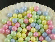 30pcs Czech Beads with a Pearl Coating Estrela Round 8mm Baby Mix Pastel
