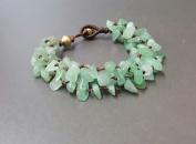 Handmade Wax Cord Chip Jade Knot Bracelet