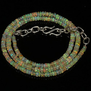 30 Carats Natural Ethiopian Welo Fire Opal Rondelle Beads Necklace