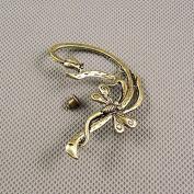 2 Pieces Earrings Ear Earring Supplies Hooks Stud Cuff Clip Punk XF215B Left Side Dragonfly
